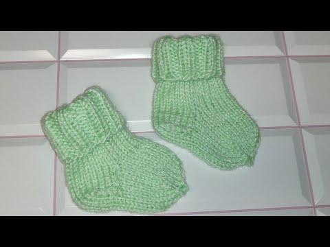 Маленькие носочки спицами