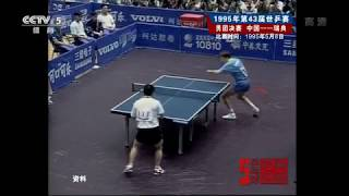 WTTC1995 Jan-Ove Waldner vs Wang Tao