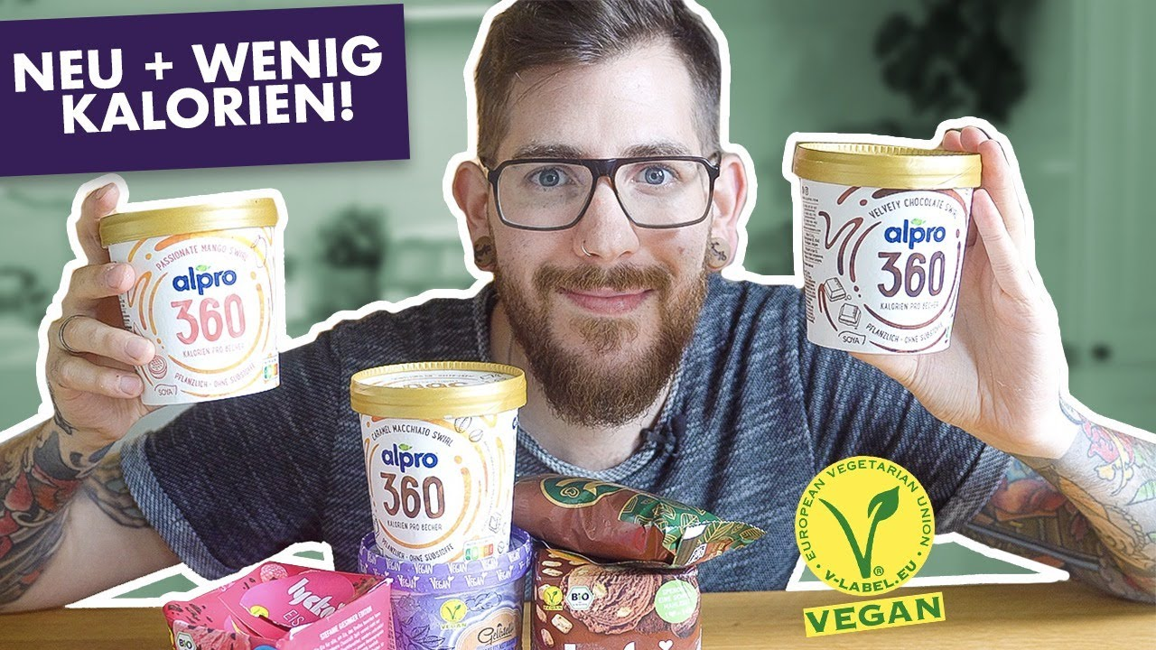 Nur 360 Kalorien! Ich TESTE das NEUE vegane Eis von Alpro & mehr 🍦