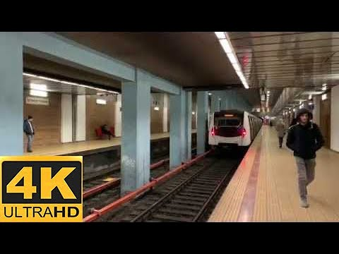 [4K 60fps]Bucharest Metro-BOMBARDIER