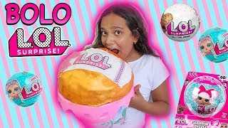 BRINCANDO DE MASTERCHEF - BOLO BIG LOL SURPRISE! - JULIANA BALTAR