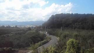阿武隈急行線 高子駅→向瀬上駅→瀬上駅の山側(西側)車窓