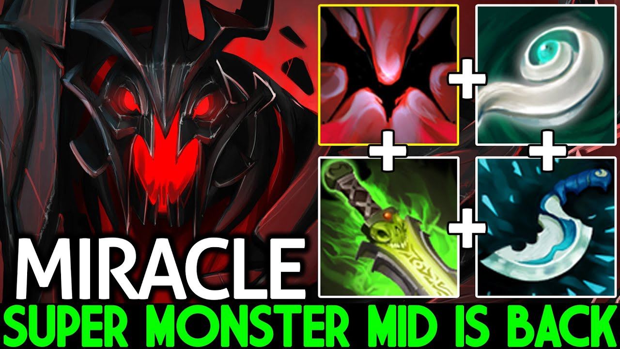 MIRACLE [Shadow Fiend] Super Monster Mid is Back Combo ULT Max Damage Dota 2