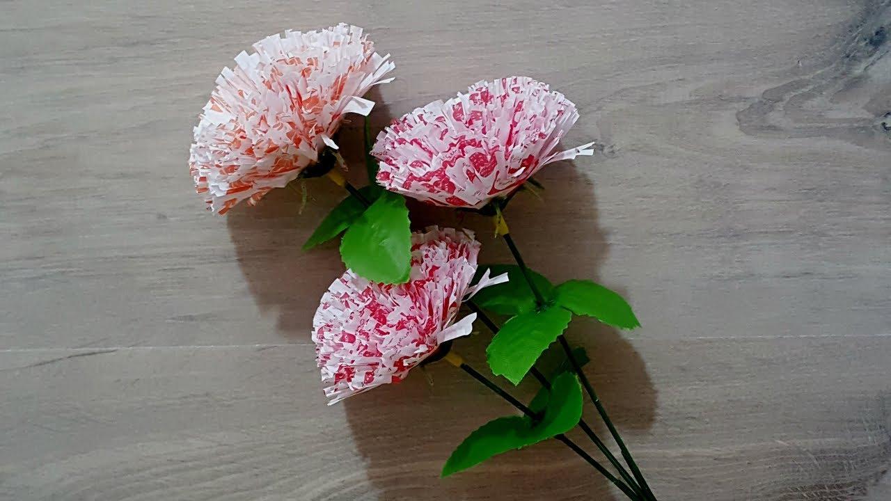 Cara Membuat Bunga Dari Kertas Roti How To Make Flowers From Bread