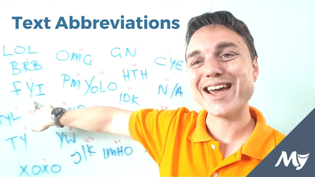 text abbreviations and their