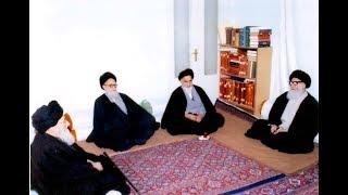 استقبال المرجع السيد شريعتمداري لقائد الثورة السيد الخميني بعد عودته إلى إيران