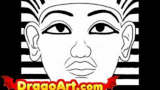 How to draw king tut, step by step