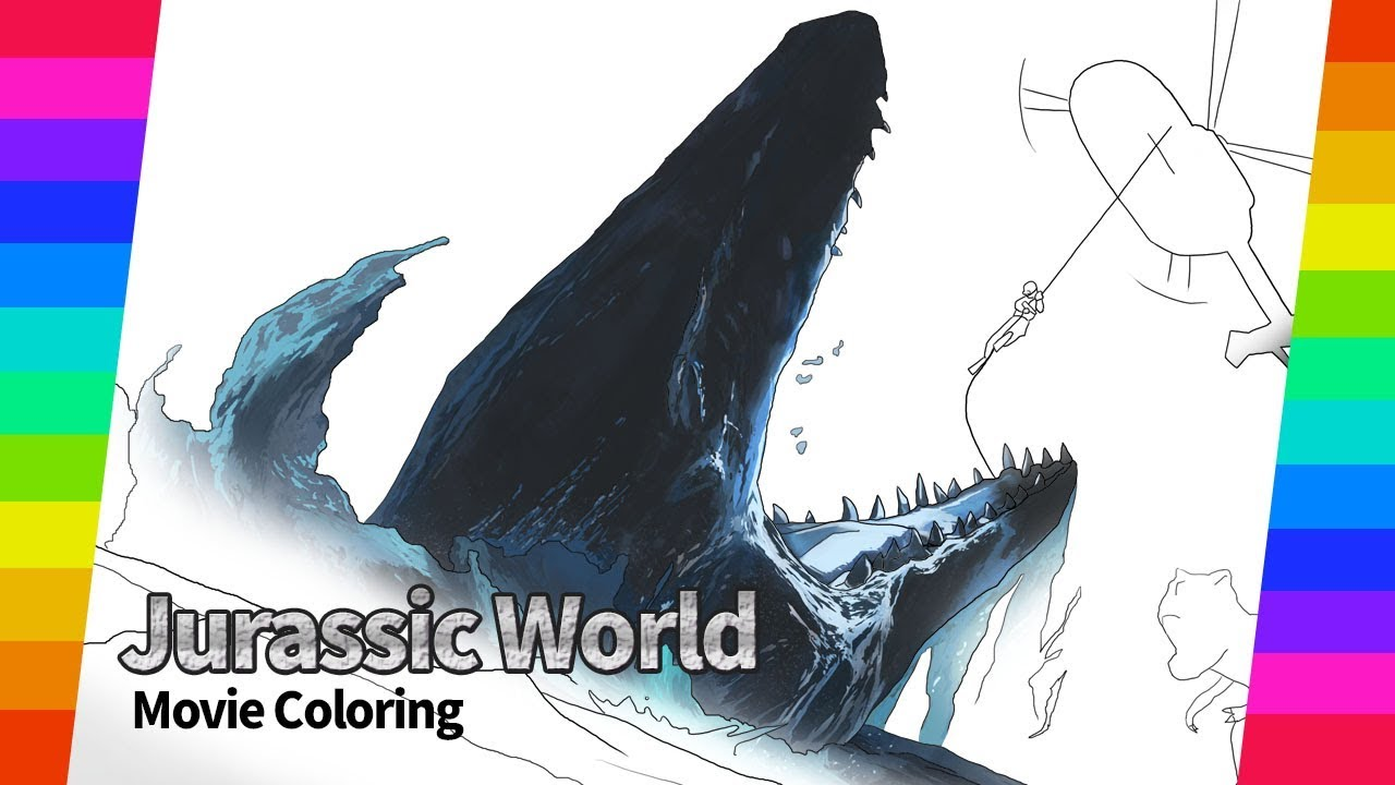 Jurassic World 2 Movie drawing Vol.4   How To Draw ...