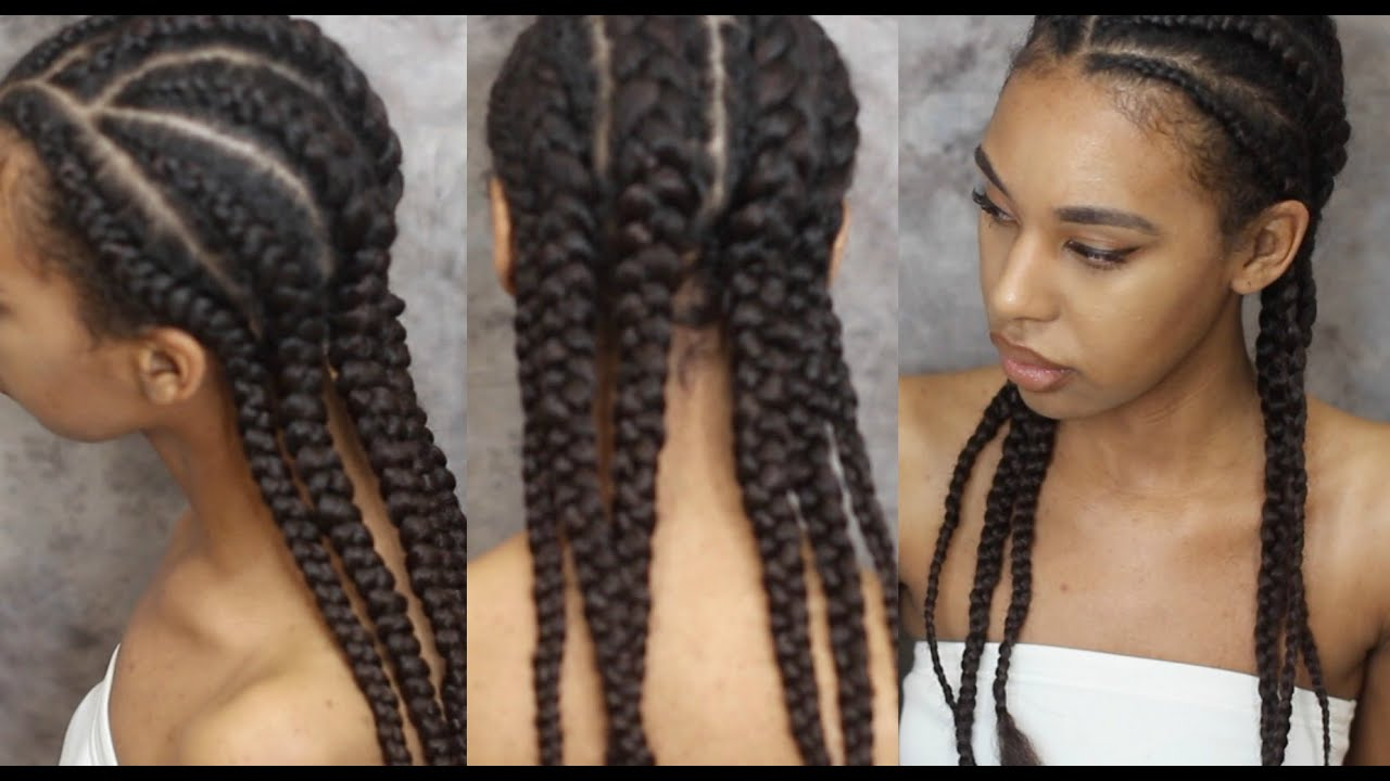 How To Braid Hair With Extensions Invisible Cornrows Youtube