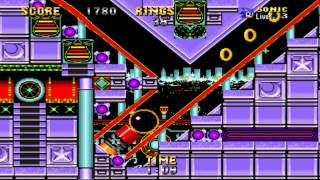 Sonic The Hedgehog 2 - Casino Night Zone 2P(SNES remix)