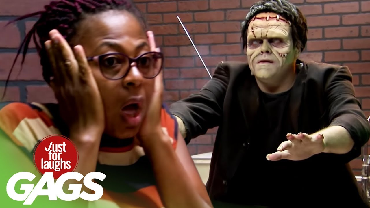 Funny Prank አስቂኝ ሽወዳ - Frankenstein Wakes Up from a Flip of a Switch