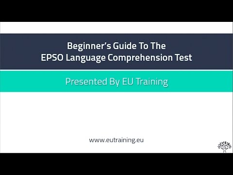 Beginner's Guide To The EPSO Language Comprehension Test