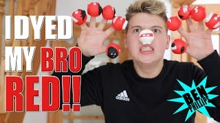 I dyed my bro RED Comic Relief PRANK!!