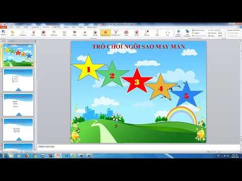 Cách tạo trò chơi Ngôi sao may mắn - Chuyên trang Tin học Giáo viên