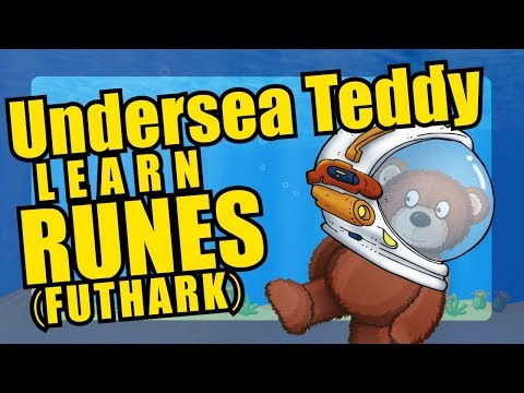 Viking Runes Alphabet Undersea Teddy Bear Parade - Futhark