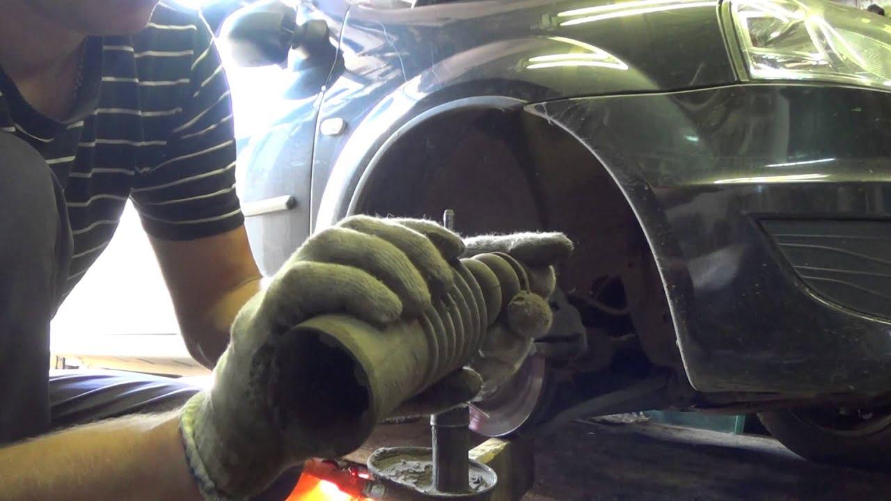 Замена переднего амортизатора на рено логан своими руками фото 967
