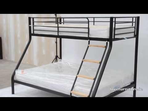 Triple Bunk Bed Metal - Teri Triple Sleeper