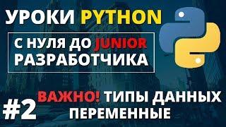 Уроки Python - Типы данных, переменные