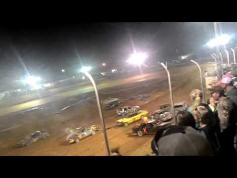Demolition derby at tri county race track