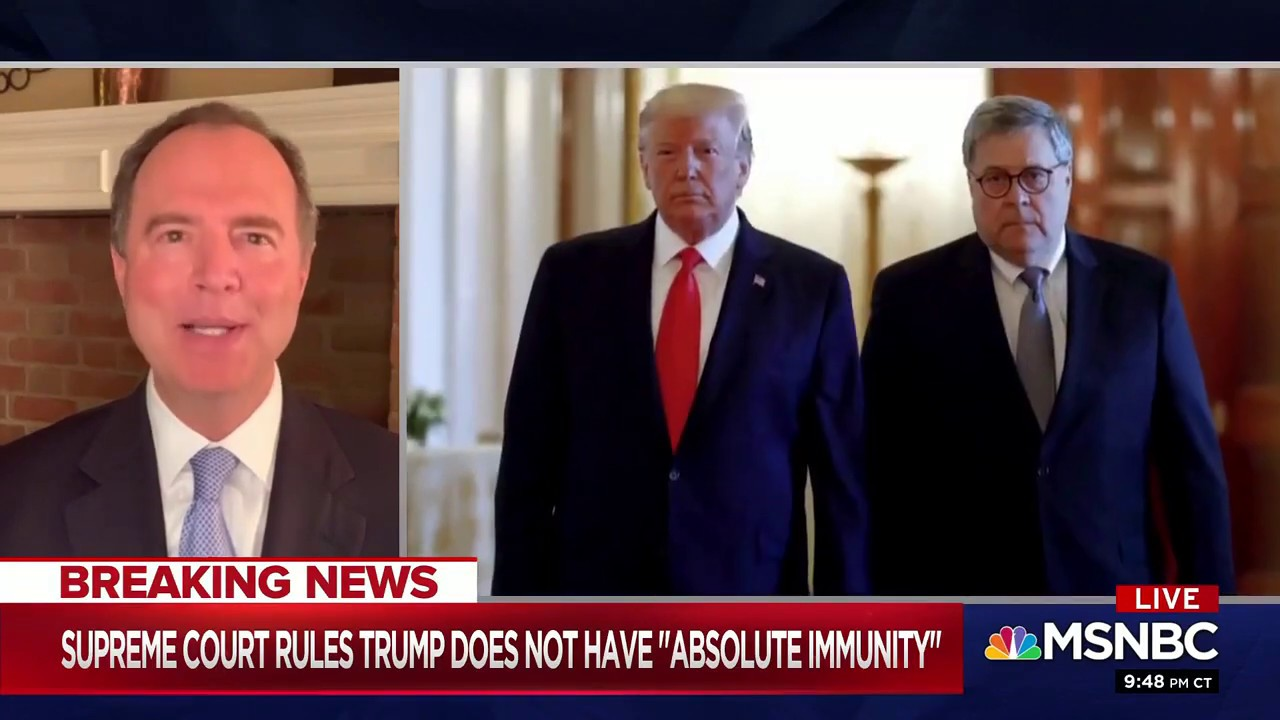 Rep. Schiff on MSNBC: With Trump, Justice Delayed is National Security Denied