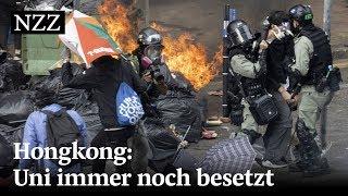 Hongkong: Immer noch befinden sich Studenten in der Universität