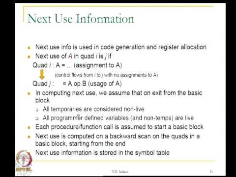 Mod-08 Lec-25 Machine code generation - 2