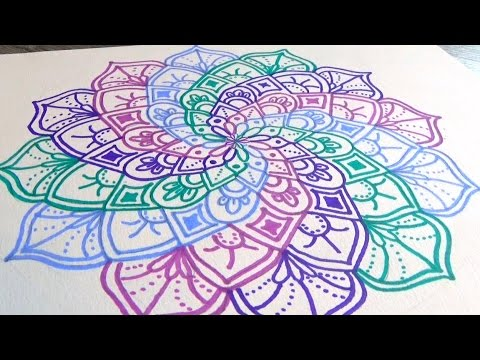 tuto comment dessiner un mandala spirale youtube. Black Bedroom Furniture Sets. Home Design Ideas