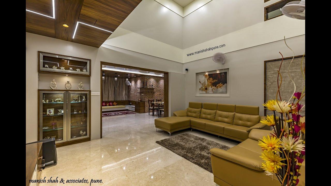 3 Bhk Flat Modern Interior Design Rohan Kritika Sinhgad Rd Pune Brick House Kurmude Residence Youtube