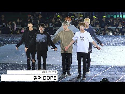 방탄소년단 BTS 쩔어 DOPE 4K 직캠 161001 락뮤직
