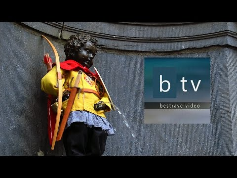 Manneken–Pis: the famous bronze boy mascot of the city of Brussels!