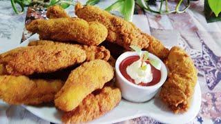 Crispy Chicken Fingers recipe /Fried Chicken Fingers/Chicken Strips/ChickenTenders