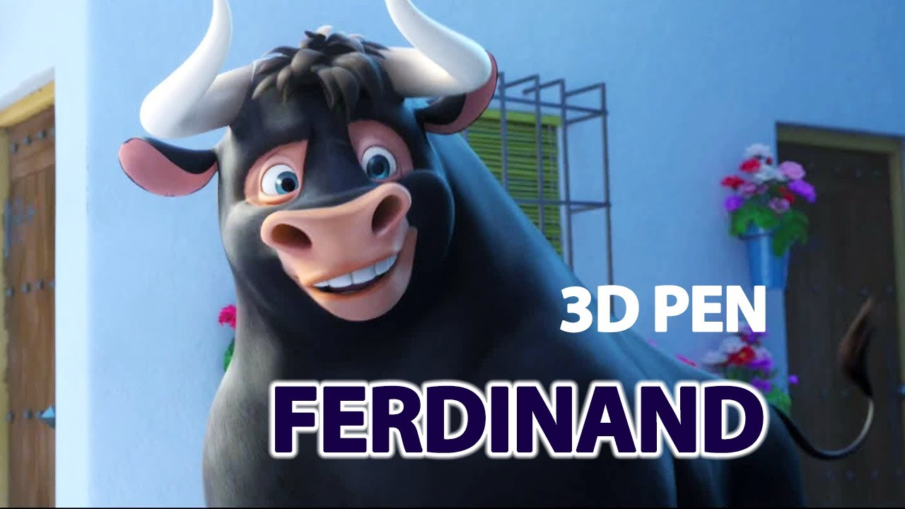 Creating the Bull Ferdinand with 3d pen  55b0610a0f5ca
