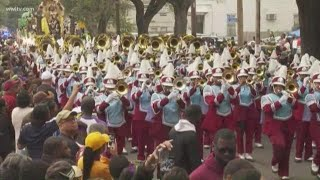 Talladega College Marching Band marches in Zulu | Mardi Gras 2020