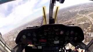 BK117 Take Off Arch Base Cockpit View