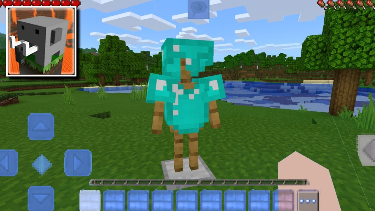 Download HOW TO MAKE an ARMOR STAND in Craftsman: Building Craft without mods