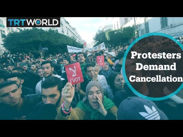 Protesters demand Thursday's vote be cancelled in Algeria