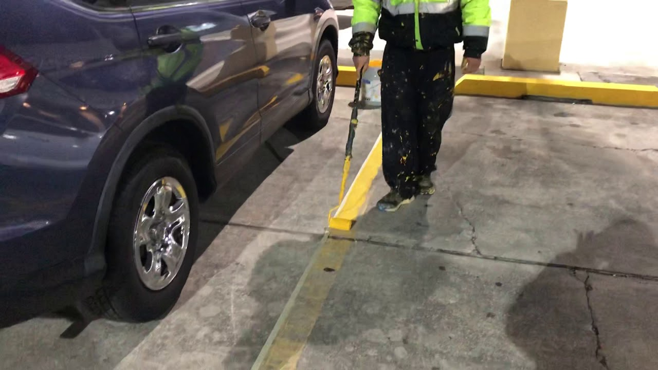 How to paint parking lines without a machine