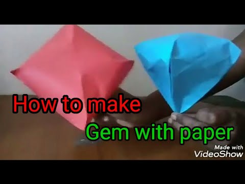How to make 💎 gem with paper
