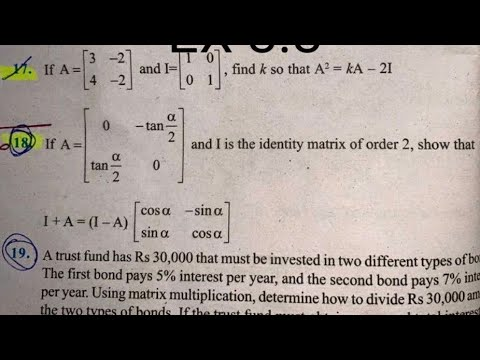 Download EX 3.2 Q13 TO Q22  SOLUTIONS OF MATRICES NCERT CHAPTER 3 CLASS 12th(PART2)