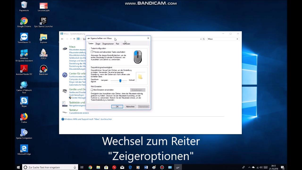 Mauszeiger Geschwindigkeit verändern - Tutorial Windows 10
