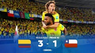Колумбия  3-1  Чили видео