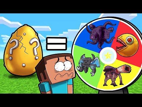 Minecraft - MYSTERY WHEEL OF BOSSES! (Lucky Boss Egg)