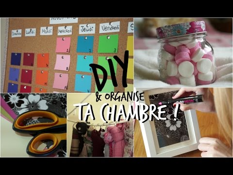 diy d core et organise ta chambre youtube. Black Bedroom Furniture Sets. Home Design Ideas