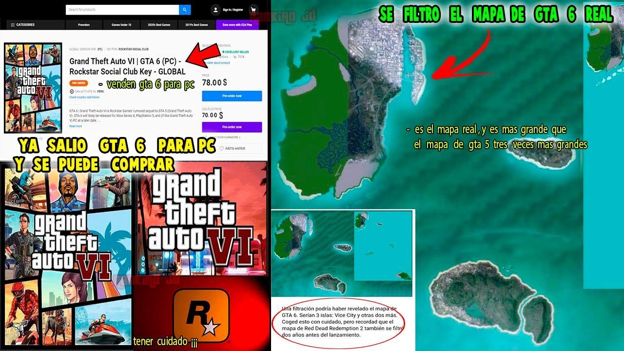 Ya salio GTA 6 para Pc y se puede comprar? y se filtro el mapa de gta 6 Real