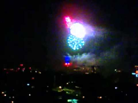 Entel Tower Fireworks,