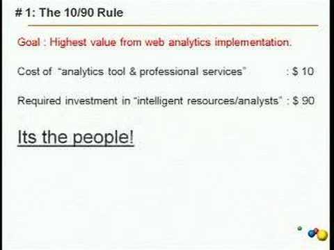 Successful Web Analytics Approaches by Avinash Kaushik