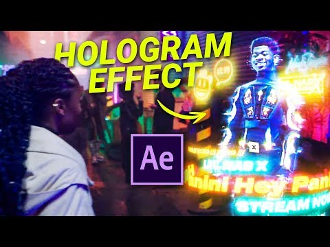 HOLOGRAM in After Effects - Lil Nas X 'Panini' (Tutorial)