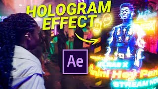 HOLOGRAMM in After Effects - Lil-Nas-X 'Panini' (Tutorial)
