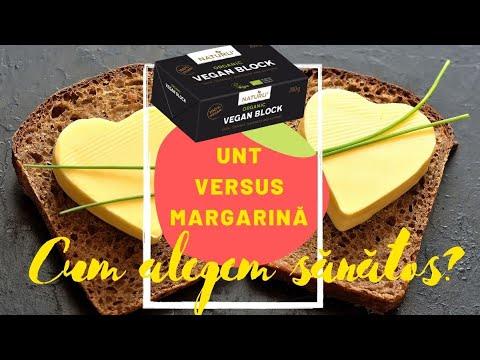 UNT versus Margarină. Care este mai sănătos? Ce este untul VEGAN?