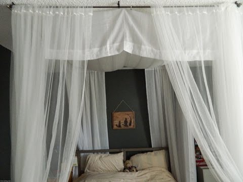 Simple Ceiling Mount Curtain Rods Ideas - YouTube